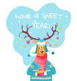 Have a sweet year christmas card with cute