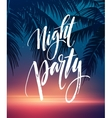 Hot Summer Night Party Poster Design with vector image vector image