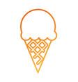ice cream sweet cold fresh tasty vector image vector image