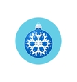 Icon Blue Ball with Snowflake vector image