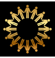 icon of people standing in a circle vector image vector image