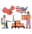 international delivery shipment from china to usa vector image vector image