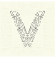 Letter V Golden Monogram Design element vector image vector image