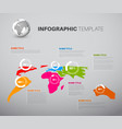 light world map with pie charts vector image