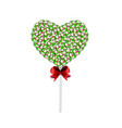 lolipop heart made of sweets and candies and vector image