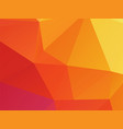 low poly orange pink texture background vector image vector image