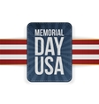Memorial Day USA realistic Sign with Text vector image vector image