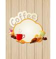 menu label coffee vector image vector image