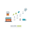 Mobile marketing concept Social network vector image vector image