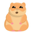 open mouth hamster icon cartoon style vector image vector image