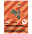 Park color isometric poster