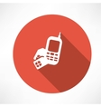 phone with sim card icon vector image vector image