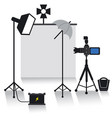 photo studio equipment vector image