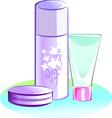 powder and cream vector image vector image