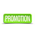 Promotion green 3d realistic square isolated vector image vector image