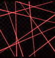 random red laser mesh security red beams isolated vector image vector image
