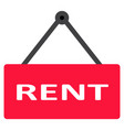 rent icon on white background flat style rent vector image vector image