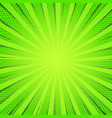 retro comic green rays background raster gradient vector image vector image