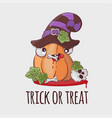 robber pumpkin halloween funny cartoon vector image vector image