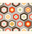 seamless cute geometric hexagonal textured print vector image