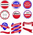 set badges labels and ribbon vector image
