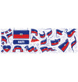 set national flag haiti in vector image vector image