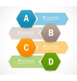 Set of banners with hexagons Infographic design vector image vector image