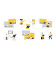set of business people flat icons flat style vector image vector image