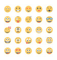 smiley flat icons set 3 vector image vector image