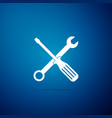 spanner and screwdriver tools icon isolated vector image vector image