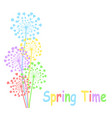 spring time colorful background with bright vector image