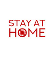 stay at home symbol concept vector image