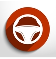 steering wheel web icon vector image
