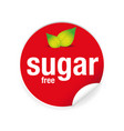 sugar free label tag sticker vector image vector image