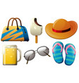 summer set with beer and accessories vector image vector image