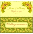 Sunflower Wedding Invitation Vintage vector image