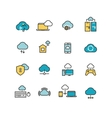 Syncing computer cloud computing network big vector image vector image