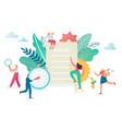 teamwork productivity communication concept vector image