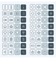 Thin line game icons buttons interface ui vector image vector image