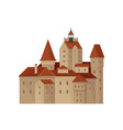 transylvania s bran castle or residence of count vector image
