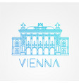 vienna state opera the symbol of austria vector image vector image