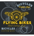 Vintage elements with Bicycle label set template vector image vector image