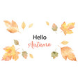 watercolor card of leaves and branches vector image