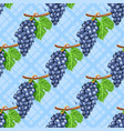 watercolor grapes diagonal seamless pattern vector image vector image