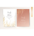 wedding invite luxury modern invitation golden vector image vector image