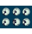 Zodiac signs in a circle frames set vector image vector image