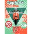 Color vintage scooter poster vector image
