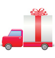 Truck with present vector image