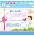 Baby cartoon background vector image