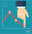 decreasing business graph vector image